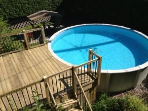 Patios & decks piscine - Patio Bois Traité